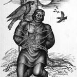 Субраков Р.И. Хакаский воин привязанный к дереву